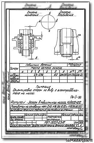 Формуляры на ремонт конденсатного насоса КсВ 200-210