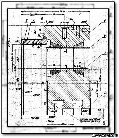 Сборочный чертеж Диафрагма ЦВД 4 ступени турбины К-500-240-2