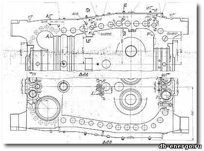 Корпус внешний ЦВД нижняя половина турбины К-500-240-2 ХТГЗ. № Б-821-01СБ2