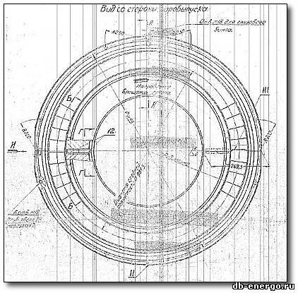 Сборочный чертеж Б-821-66СБ. Диафрагма ЦВД 6 ступени турбины К-500-240-2 ХТГЗ