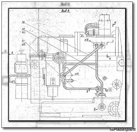 Сборочный чертеж Трубопроводы ЦВД Б-821-50СБ паровой турдины К-500-240-2 ХТГЗ