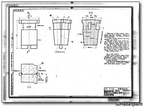 Сборочный чертеж Пакет лопаток ЦВД турбины К-500-240-2 ХТГЗ