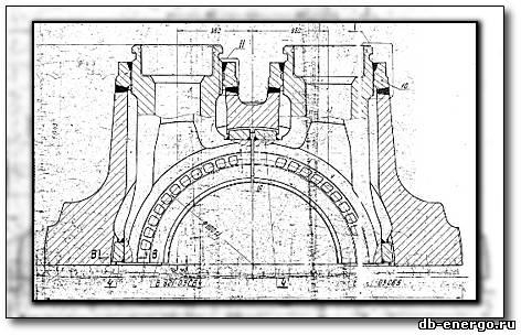 Чертеж Б-821-03СБ1 Корпус внутренний ЦВД верхняя половина(сварка)