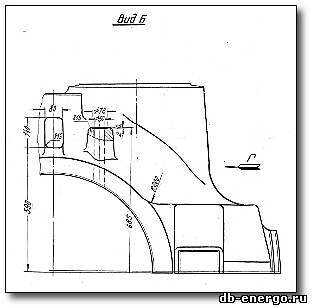 Чертеж. Корпус внутренний ЦВД Б-821-03-01(литейно обдирочный), турбина К-500-240-2 ХТГЗ