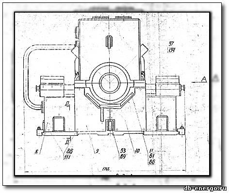 Сборочный чертеж - Опора переднего подшипника турбины К-500-240-2 ХТГЗ