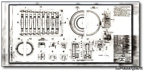 Сборочный чертеж Б-821-60сб - Диафрагмы ЦВД паровой турбины К-500-240-2 ХТГЗ