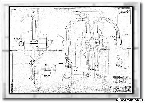 Паропроводы ЦВД турбины К-500-240-2 ХТГЗ сборочный чертеж