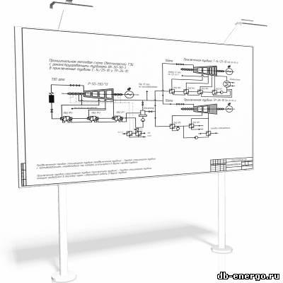Принципиальная тепловая схема реконструкции Светлогорской ТЭЦ