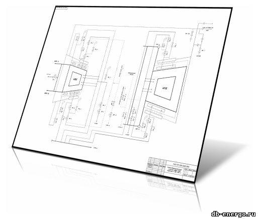 Чертеж. Схема обогрева фланцев и шпилек ЦВД и ЦСД турбины К-500-240-2 ХТГЗ